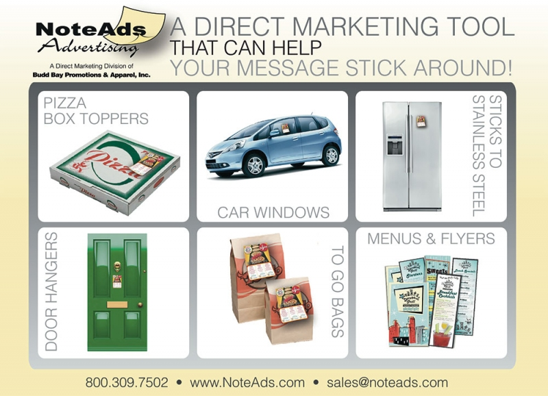 NoteAds Offers Promotions That Really Stick - PMQ Pizza Magazine
