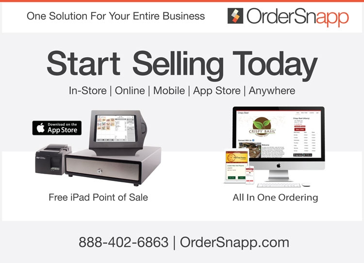 Ordersnapp Offers Free Ipad Point Of Sale System To Pizza