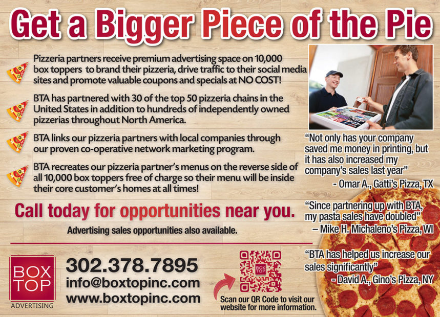 Box Top Advertising Turns Pizza Boxes Into Marketing Opportunities