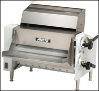this photo shows a sheeter used in some dough forming methods