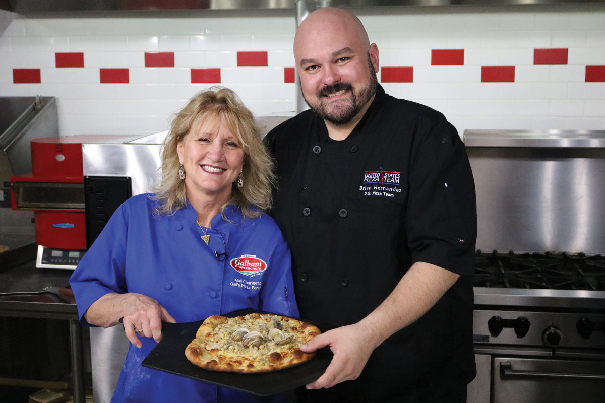 Gail Churinetz of Gail's Pizza Parties recently showed PMQ's Brian Hernandez the ins and outs of making a traditional New Haven White Clam Pie.