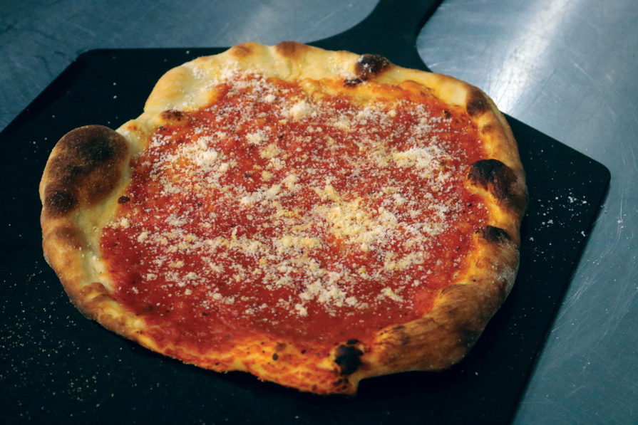 Gail Churinetz of Gail's Pizza Parties made a classic New Haven Tomato Pie during her visit to the PMQ Test Kitchen.