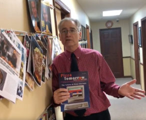 Publisher Steve Green with Pizza Tomorrow