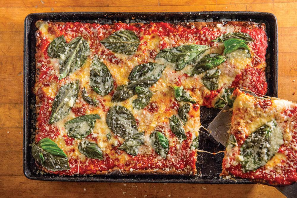 artichoke basille sicilian pizza