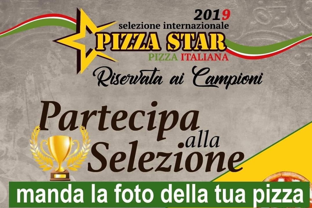 flyer for the pizza star competition hosted by angelo petrone