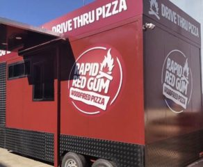 rapid red gum drive thru pizza