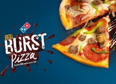 bbq burst pizza from domino's nigeria