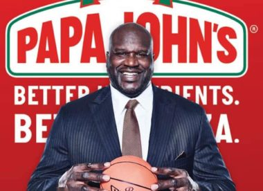 Shaquille O'Neal delivers pizza to school kids for Papa John's