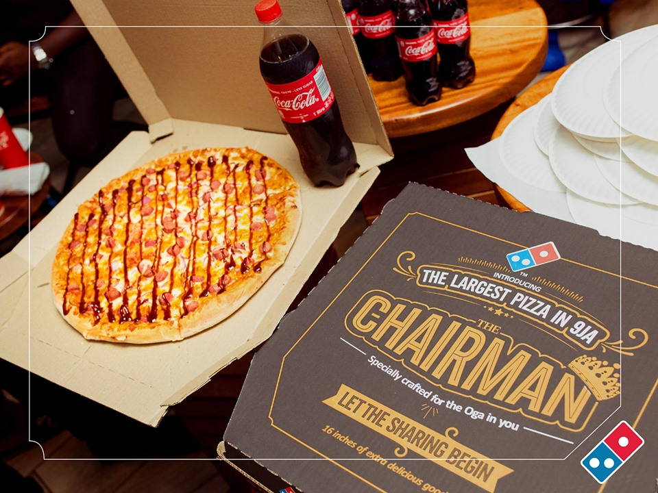 chairman extra large pizza domino's nigeria