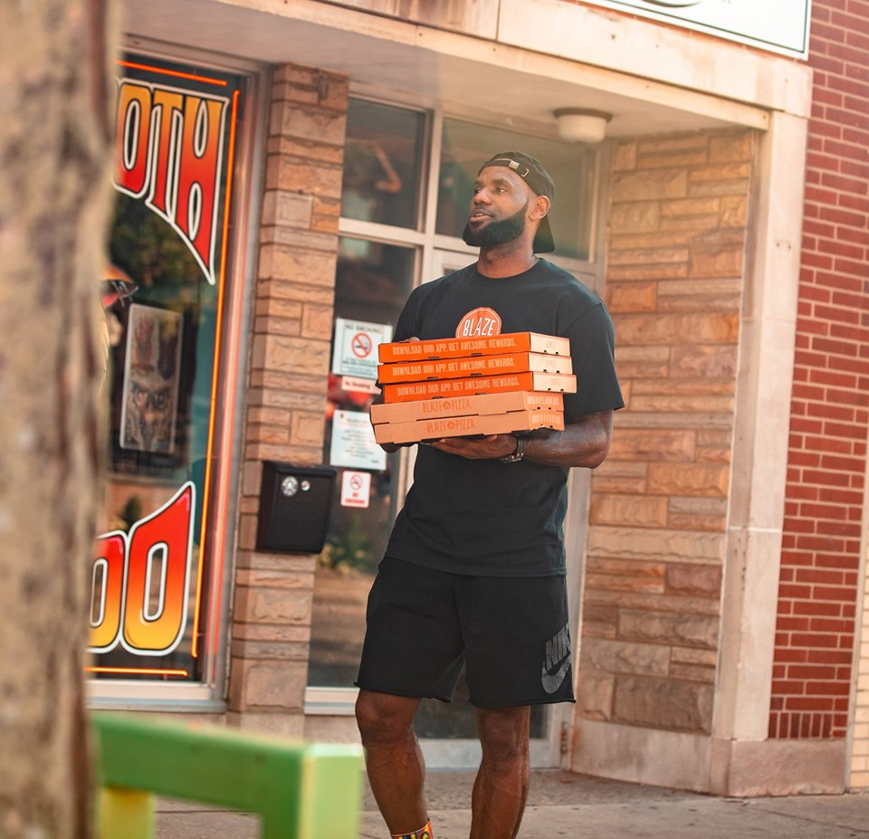 blaze pizza lebron james