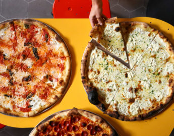 this photo shows the eye appeal of Norm's pizzas