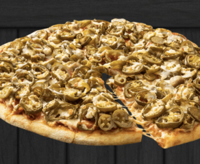 jalapenos on a cheese pizza