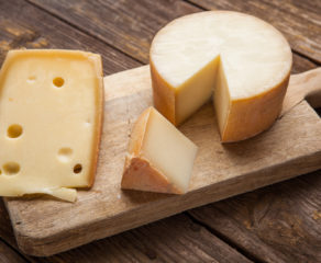 This photo shows one of the many types of hard cheeses for pizza recipes.