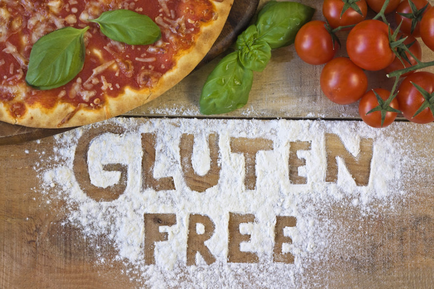 this photo graphically illustrates the gluten-free pizza concept