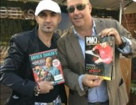 this photo shows Hakki Akdeniz with one of his celebrity supporters