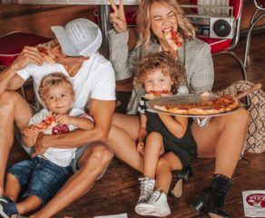 this photo shows the fun and family-friendly atmosphere of Patronie's Pizza
