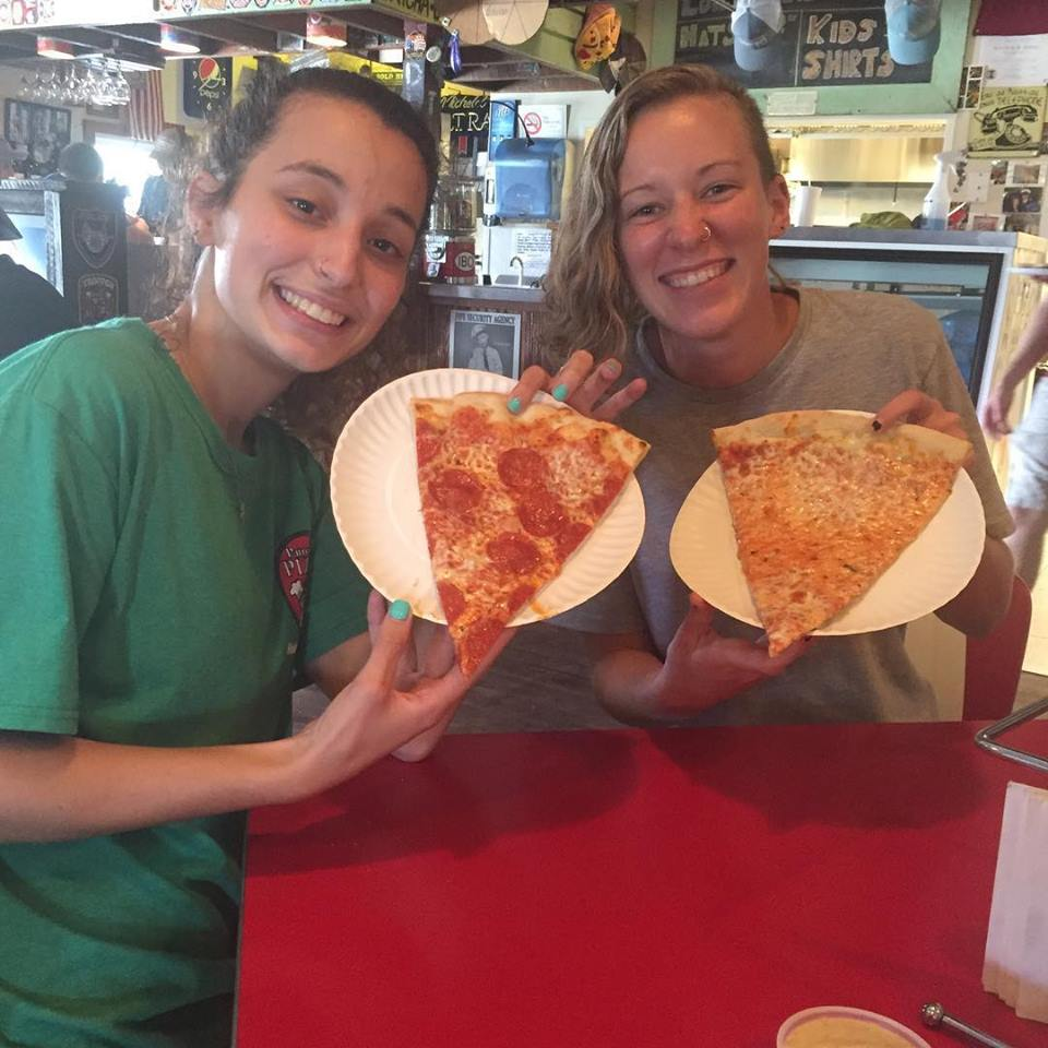 this photo illustrates the friendly service offered at Patrone's Pizza