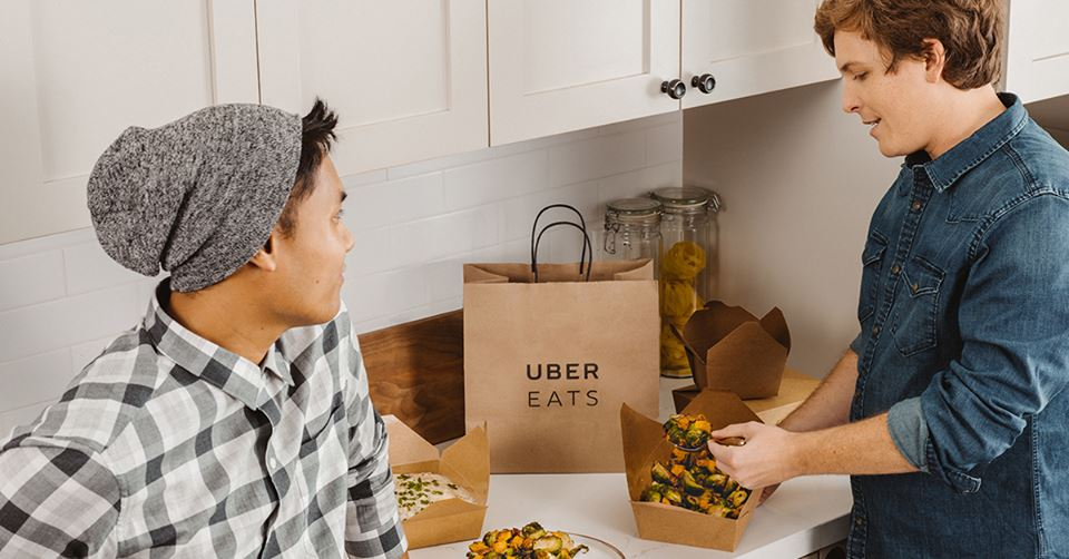 this photo shows Uber Eats, one of the major third-party food delivery companies