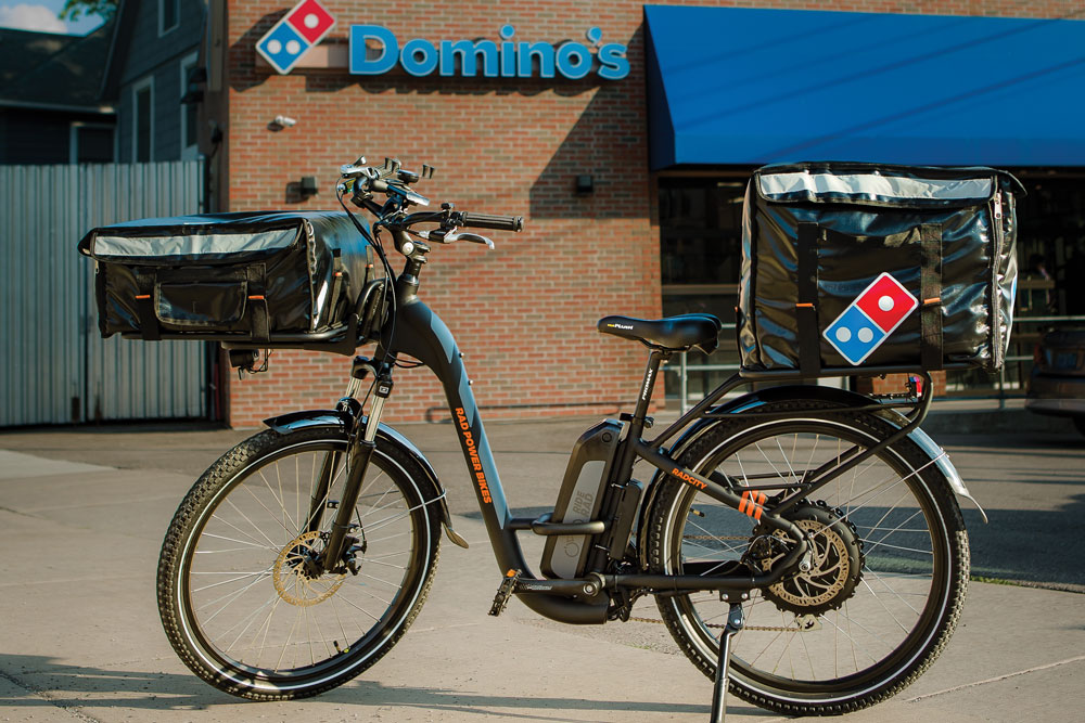 E-bikes could speed up delivery for Domino's while widening the pool of job candidates to include those who don't have a car or a driver's license.