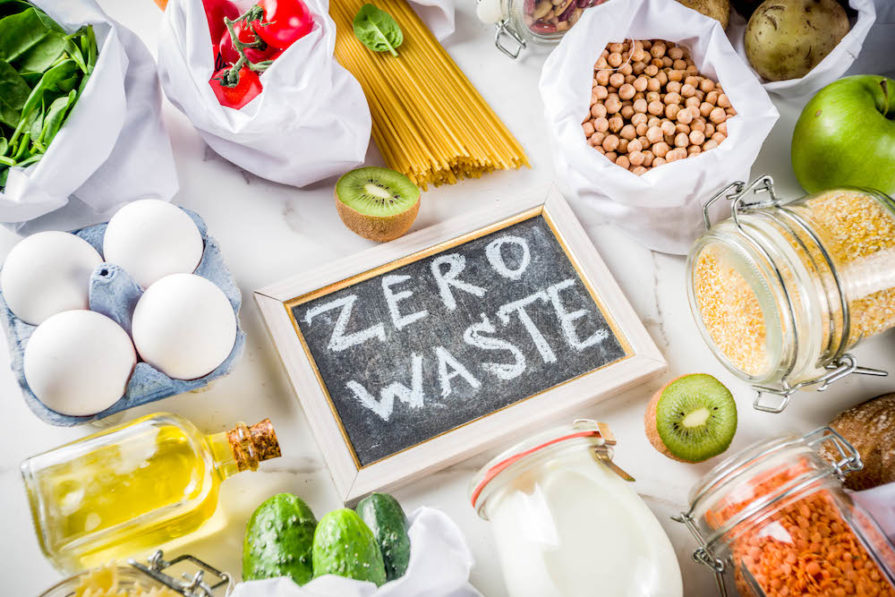 This is a photo illustration of the concept of zero food waste