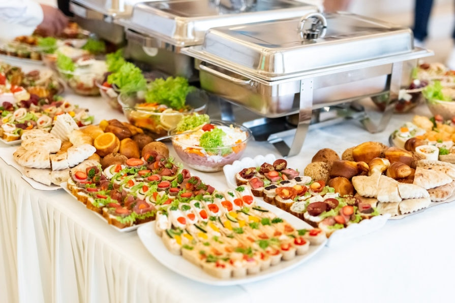 this photo shows how an appealing layout can boost catering sales