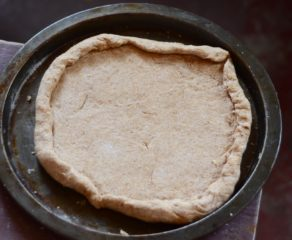 this photo shows an example of dough created for healthy pizza crusts