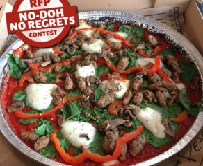 this is a photo of Rapid Fired Pizza's No Doh dough-free pizza