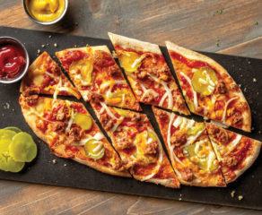 this photo depicts one of UNO Pizzeria & Grill's low-calorie pizzas