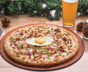this is an example of a delicious chicken pizza from Boston's Pizza Restaurant and Sports Bar