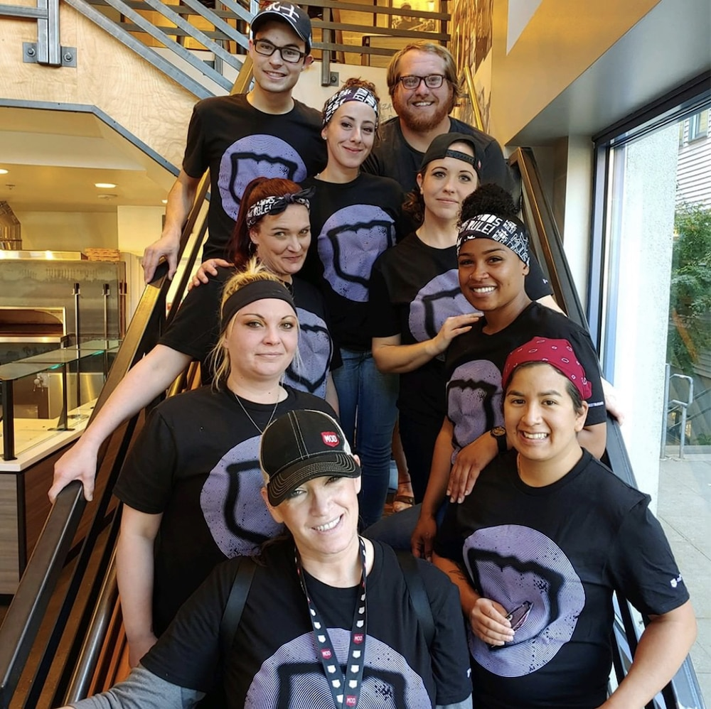 photo of a group of MOD Pizza employees