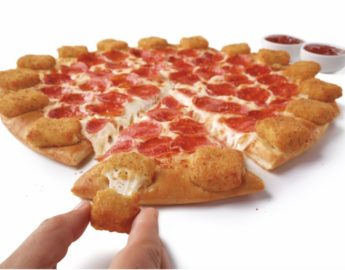 this photo shows Pizza Hut's new Mozzarella Poppers Pizza