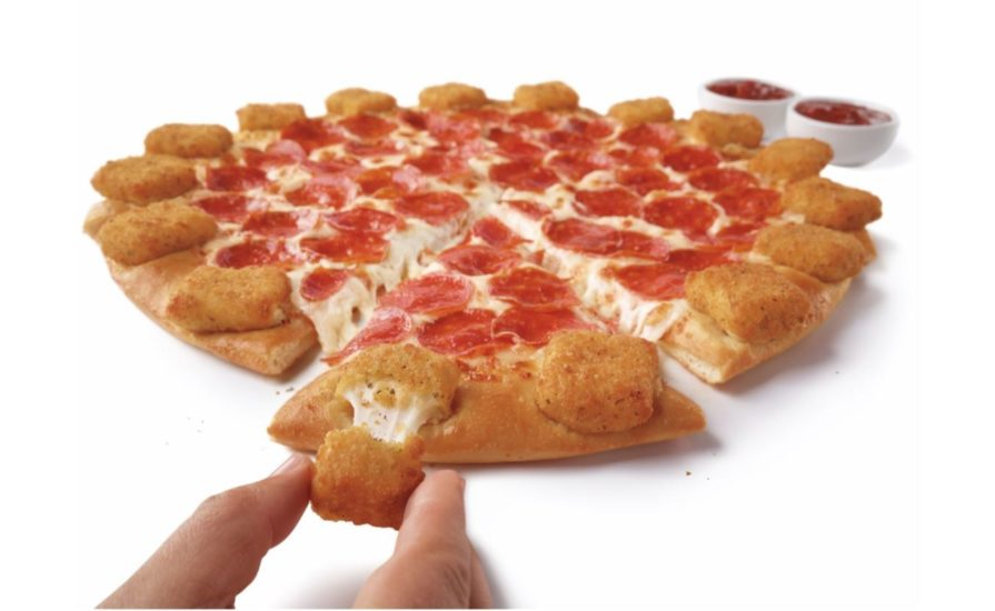this photo shows Pizza Hut's new Mozzarella Poppers Pizza