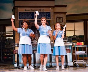 photo of several members of the cast of Waitress: The Musical, who appeared at PizzaExpress