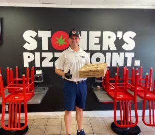 photo of John Stetson at his Stoner's Pizza Joint restaurant