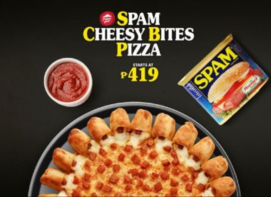 a photo of the Spam Cheesy Bites Pizza from Pizza Hut in the Philippines