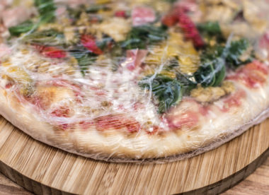 this photo shows a frozen pizza, an item that is in big demand thanks to the coronavirus pandemic