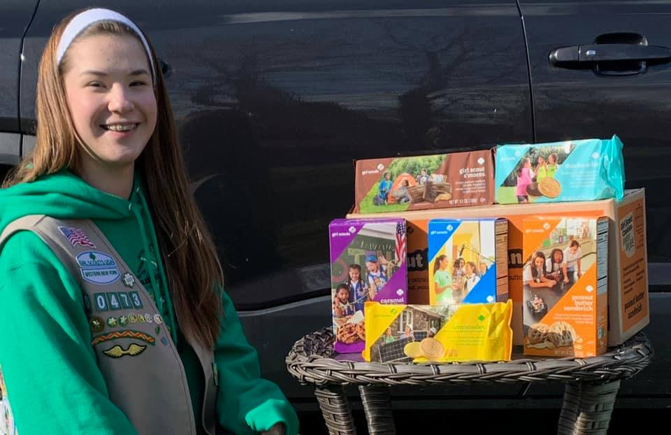 this photo illustrates a marketing tip for restaurants in the pandemic using Girl Scout Cookies