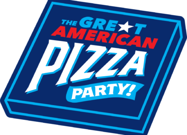 this is a graphic for the Great American Pizza Party