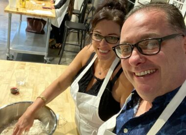 photo of Mike Nelson and Vicki Nelson in the kitchen at Little Pops Pizzeria Trattoria