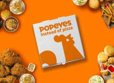 this photo illustrates Popeyes' autocorrect prank for ordering Popeyes instead of pizza
