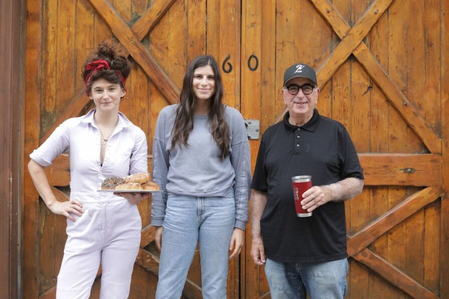 this photo shows the three people behind Edith's, a Paulie Gee's pop-up offering classic Jewish deli food in Brooklyn