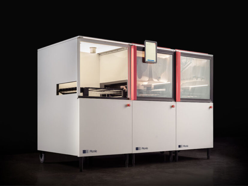 this is a photo of the full Picnic Pizza System, a robotic pizza-making system