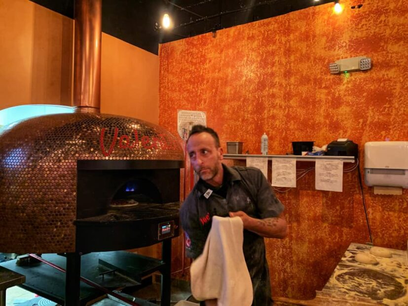 this photo shows Joe Carlucci, owner of Valentina's Pizzeria and Wine Bar, a finalist in the Bama's Best Pizza contest.