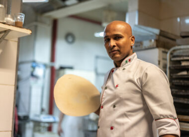 this photo shows a person of color facing the challenges of opening a new restaurant