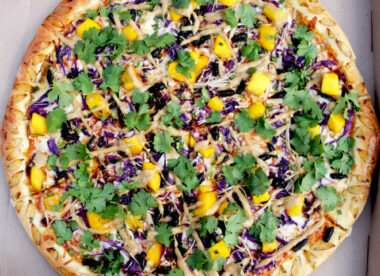 this is a photo of a cicada pizza created by James Burton of The Pizza Bandit